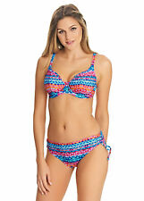 FREYA CUBAN CRUSH MULTI UNDERWIRE PLUNGE BIKINI TOP & BRIEF SET SIZE 30F / 8F