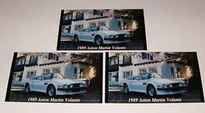 ★★3-1989 ASTON MARTIN VOLANTE PHOTO MAGNETS 89 87 88 90 91★★