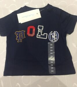 Ralph Lauren Baby Boy's 100% Cotton Navy T-Shirt ( 3 Months)