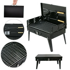 Folding Portable Compact Charcoal BBQ Grill Outdoor Camping Cooker Smoker Steel