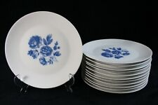 Set of 12x lunch or breakfast plates Arzberg porcelain, decor Midnight Rose