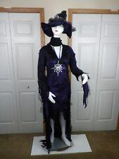 Sorceress Ladies Halloween Costume Large 12/14 Fish Net Stockings Medallion