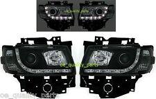 VW T4 CARAVELLE MULTIVAN LED BLACK FRONT HEADLAMPS HEAD LAMP HEADLIGHT 2H1 PAIR