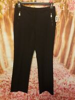 Anne Klein Size 6 Black Pleated Business Casual Dress Pants 32x31