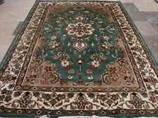 Rectangle Area Rug Grey Flowers Lovely Hand Knotted Wool Silk Carpet (6 X 4)'