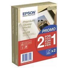 "EPSON 10CM X 15CM (6"" X 4"") PREMIUM GLOSSY PHOTO PAPER 255GSM 40+40 SHEETS"