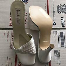 Coloriffics White Womens Heels Pre Owned 9M Jenny