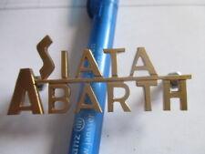 SIATA ABARTH logo caratteri distintivi 202 208 Daina OTTONE s47