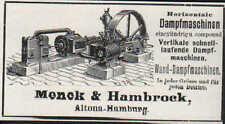 ALTONA-HAMBURG, Werbung 1900, Menck & Hambrock horizontale Wand-Dampf-Maschinen