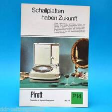 Pirett Phonokoffer Plattersp. DDR 1968 | Prospekt Werbung Werbeblatt DEWAG P14 D