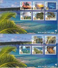 Niue 2009 FDC Scenes Definitives SG#1038-48 11v Set Cover Coconut Palm Sea Liku