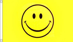 5' x 3' Smiley Face Flag Happy Smile Festival Party Banner