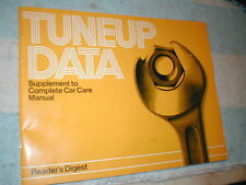 BOOK READERS DIGEST TUNE-UP DATA DOMESTIC/IMPORT 1972-1981 CLEAN COPY