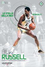 LIBRO BOOK N° 35 BILL RUSSELL LE STELLE DELLA NBA AI RAGGI X