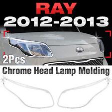 Chrome Head Lamp Cover Garnish Molding Trim C437 For KIA 2012-2013 Ray