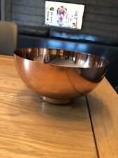 Contemporary Rose Gold Copper Fruit Bowl Metal Decorative Eight Mood Sweden