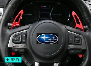 Metal Alloy Gear Shift Paddles in RED for Subaru WRX STI BRZ 86 Forester Outback