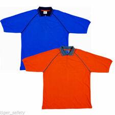 Magliette da uomo blu tinta unita in cotone
