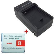 NP-BG1 Battery&Charger for SONY CyberShot DSC-HX9V DSCHX9V 16.2MP Digital Camera