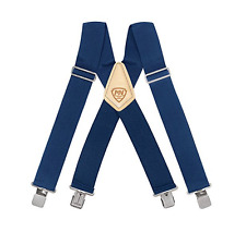 McGuire Nicholas 112 2 Inch Suspenders - BLACK/BLUE/RED New !!