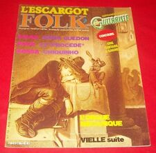 L'ESCARGOT FOLK N.75 - Avril 1980 Revue Folk Henri Guedon, Bossa + Tablatures