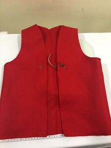 Cub Scout Uniform Auxiliary Red Patch Vest Youth Size M A107