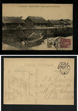 Indo china  stamped  post card to US   1912          KL0419