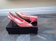 Diesel Size 6 (39) Pink And Beige And Light Pink Stiletto Shoes
