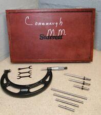 """Starrett No. 224 - 2"""" to 6"""" outside micrometer set - 2"""" - 6"""""""