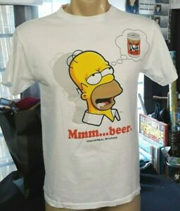 Universal Studios The Simpsons Homer T-Shirt Inside Can Container Size Small