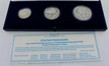 Münzprogramm Fussball-Weltmeisterschaft 1986 Mexiko / 925er Silber PP / Pesos