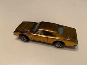 1969 Hot Wheels Redline Custom Dodge Charger Gold Vintage Diecast Car