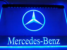 """Blue Mercedes Benz 12"""" x 8""""Inch  Led Neon Sign advertising"""