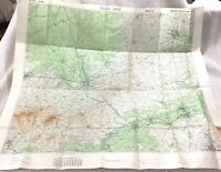 Large WW1 Military Map Ypres France 1914 The Outbreak of War Roulers Messines