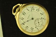 VINTAGE 16 SIZE ELGIN FATHER TIME POCKETWATCH RUNNING!