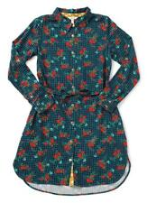 Matilda Jane FA LA LA Dress Small S Gingham Floral Button Down Rayon Holiday NWT