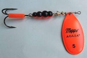 1 x leurre MEPPS cuiller AGLIA FLUO ORANGE lure trout perch spinner trutie