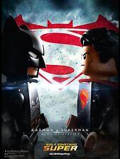 Batman Vs Superman DC comic Lego, Justice League, Reproduction 12x18, Poster