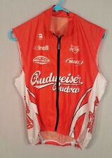 Budweiser Budvar Cycling Jersey Mens Size S Small Cinelli Mavic Vest