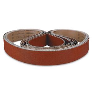 """2"""" x 36"""" Knife Maker Ceramic Sanding Belt Kit 36, 40, 60, 80, 120 grit - 10 PACK"""