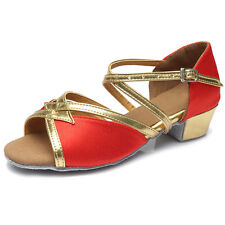 Brand New Women Children Girl's Ballroom Latin Tango Dance Shoes heeled Salsa206
