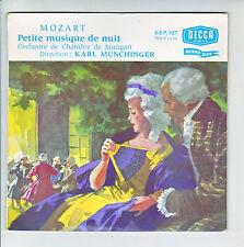 MOZART Vinyl 45T PETITE MUSIQUE NUIT Orchestre Chambre Stuttgart Karl MUNCHINGER