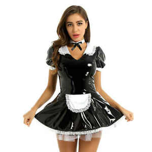 Sissy Maid Leather U-Lockable Dress Tailor-made