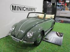 VOLKSWAGEN BEETLE de 1949 vert au 1/18 MINICHAMPS 107054130 voiture miniature