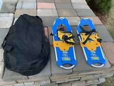 Tubbs Flurry Kids Snowshoes 18 Inches Blue Yellow Exc Barely Used Condition.