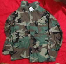 M-65 Field Jacket WOODLAND CAMO US MFG ISSUE ITEM SURPLUS COTTON NYLON NEW REAL