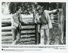 PETER STRAUSS CHARLTON HESTON PORTRAIT PROUD MEN ORIGINAL 1987 ABC TV PHOTO