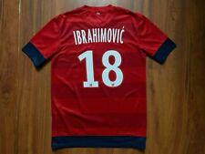 PARIS SAINT GERMAIN FOOTBALL SHIRT 2012-2013 PSG #18 IBRAHIMOVIC JERSEY SIZE S
