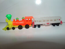 Vintage Plastic Toy Train Made In Hong Kong + RAIL CAR Rare ****