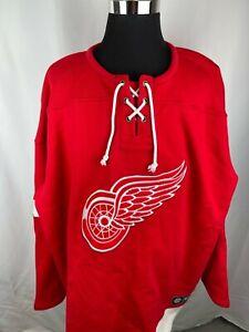 NWT Detroit Red Wings Fanatics Breakaway Lace Up Pullover Sweatshirt Size 5XL